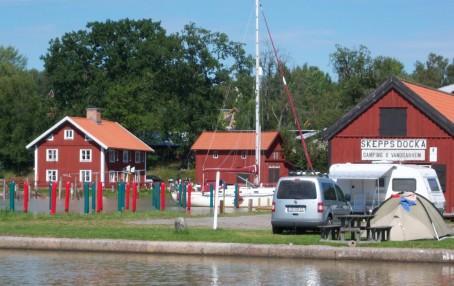 Skeppsdockans Camping vid Göta kanal blir större