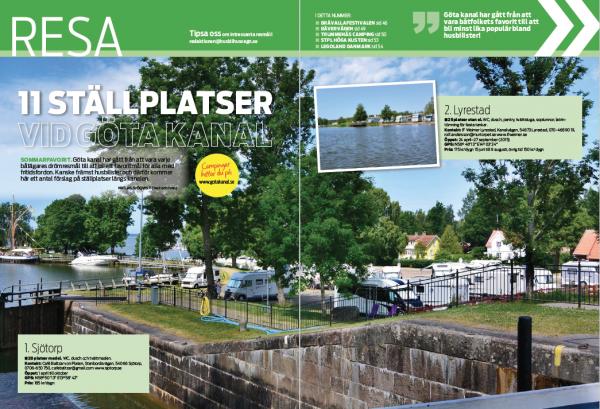 Resa: Ställplatser Göta Kanal, Bävervägen, Höga Kusten