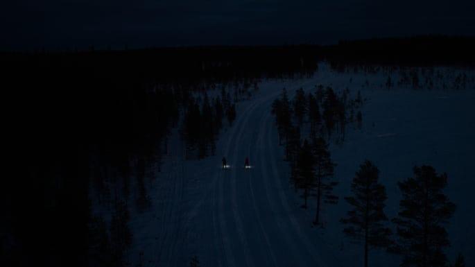 Nattmarathon på skidor i Orsa