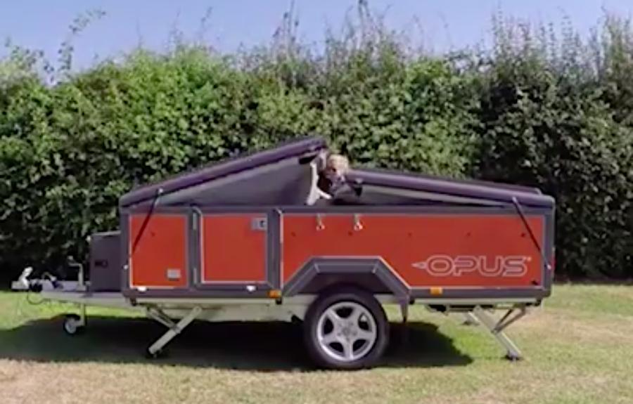 Uppblåsbar husvagn