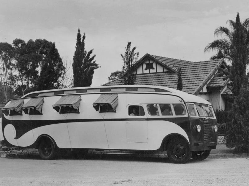 Innan husbilar blev allmänt förekommande