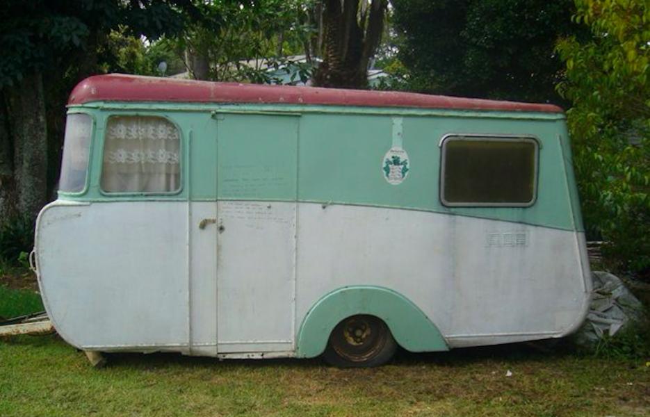 Så kan också en husvagn se ut
