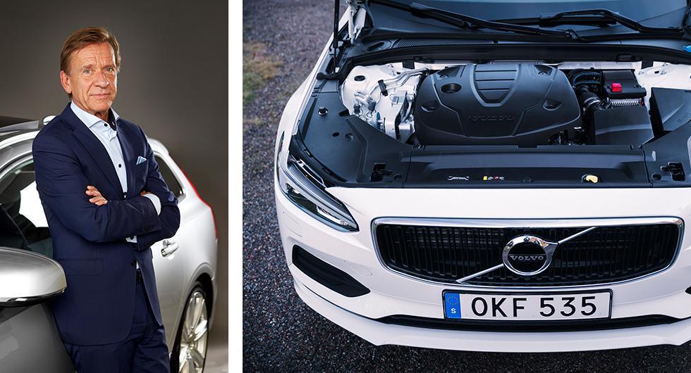 Håkan Samuelsson, chef på Volvo Cars, berättar att Volvo överväger hur dieseln kommer att användas i framtiden. I Vi Bilägares långteststall 2017 ingår V90 med dieselmotorn D3.