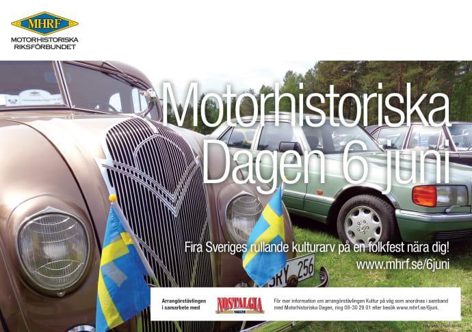 Motorhistoriskt firande över hela landet den 6 juni