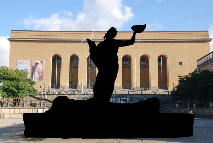 Foton på Poseidon-statyn i Göteborg får fortsättningsvis inte längre delas online.