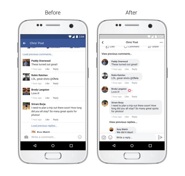Facebook uppdaterar layouten