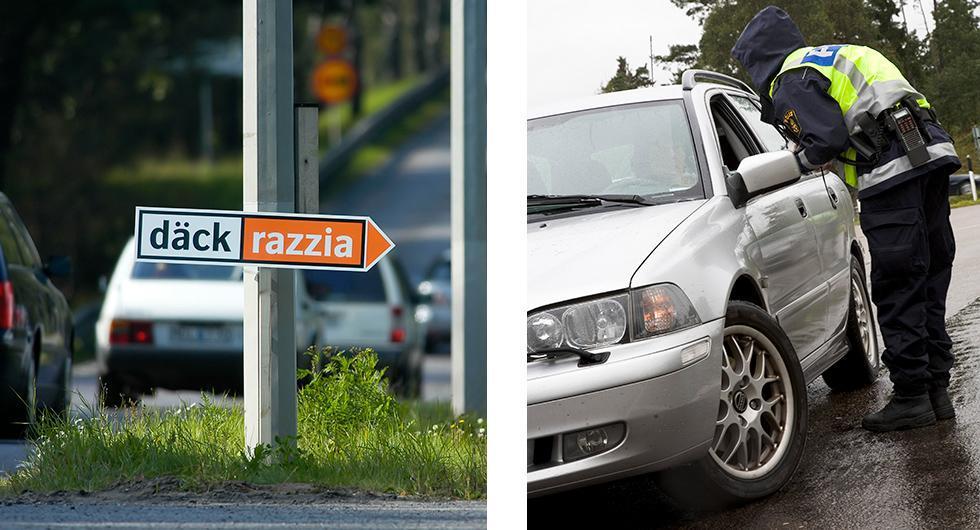 Var fjärde bil i Skåne hade vinterdäck på sommarväg
