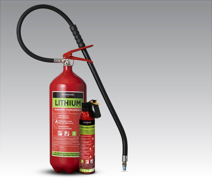 Ny brandsläckare för litiumbatterier