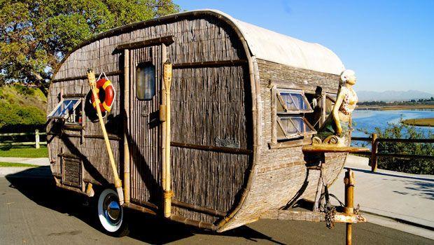 Husvagn för strandliv