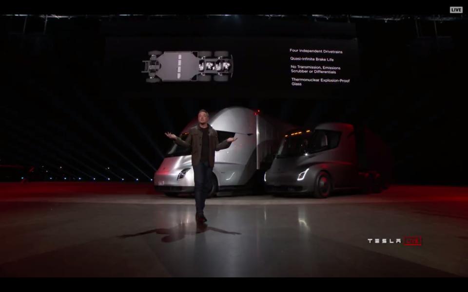 Tesla lanserar lastbil som drivs av el