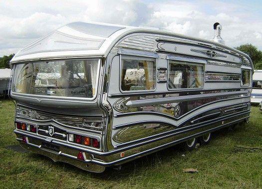 En glittrande husvagn