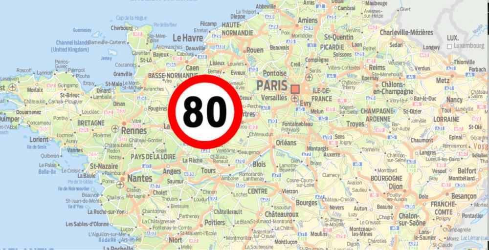 Frankrike sänker hastigheten