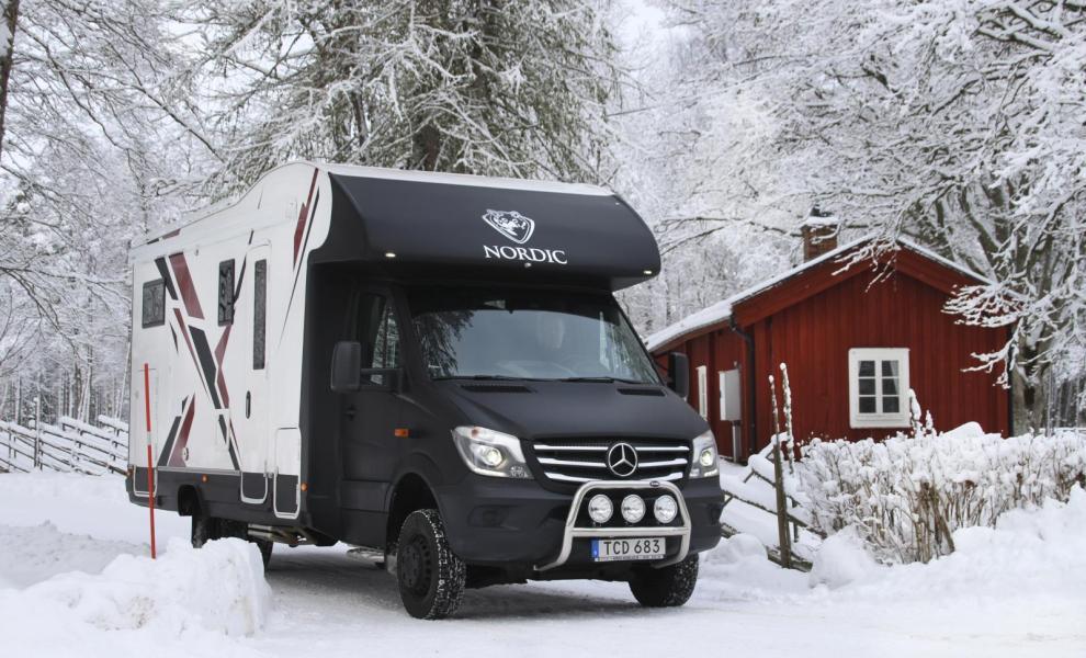 En husbil för vinterfantasten