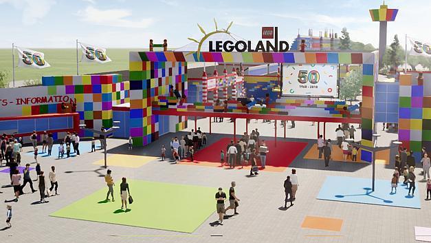 Så här kommer entrén att se ut enligt Legoland.