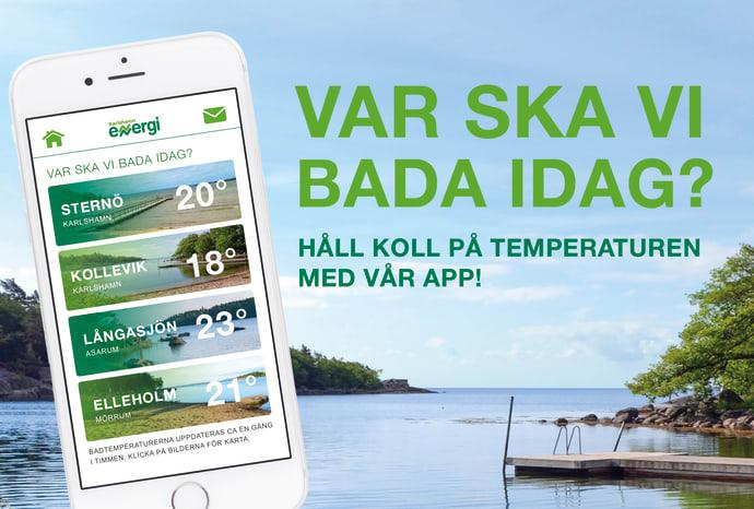 Liveuppdaterade badtemperaturer