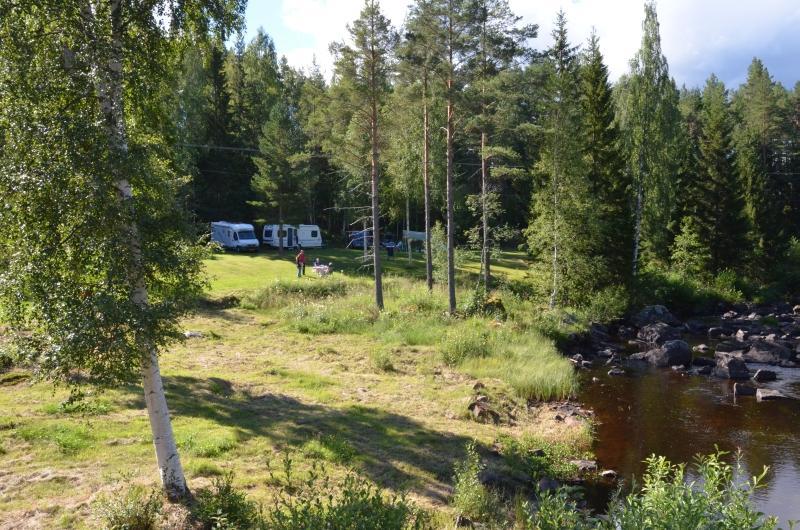 Ängra camping utrymms på grund av skogsbrand