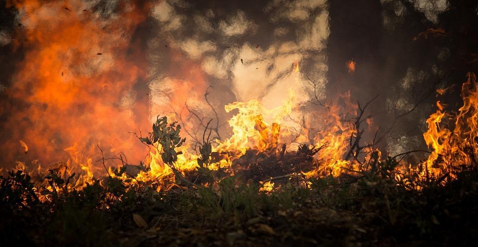 Brand på campingen kan ske lätt i det torra vädret
