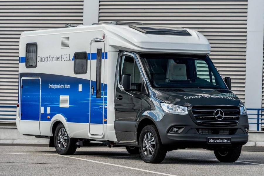 Mercedes visar upp ny teknik för husbil