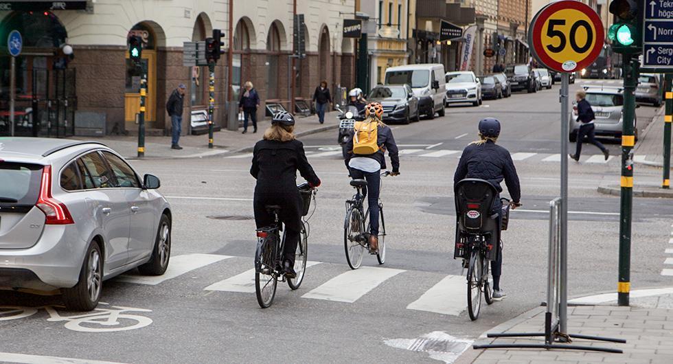 Nu behöver cyklister inte utnyttja cykelbana