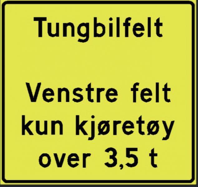 Norge får separat körfält för tunga fordon