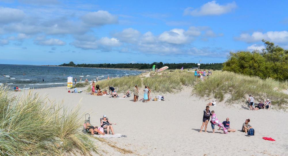 Under fina högsommardagar kan platsen på bilden vara fullsmockad av soltörstande semesterfirare.