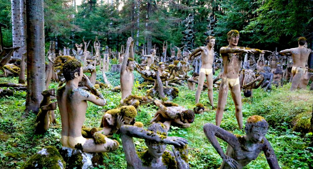 Konstig rastplats i Finland