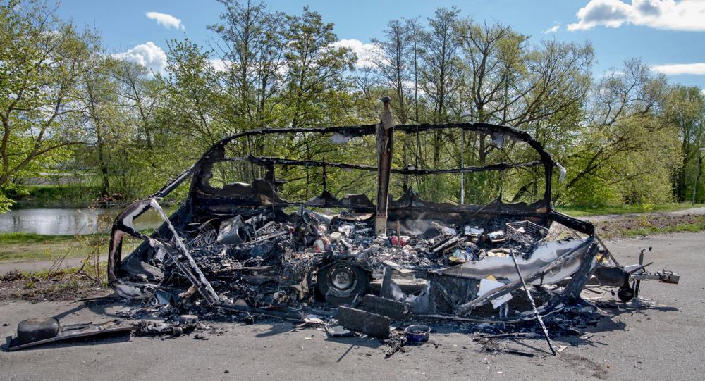 Brandskadade fritidsfordon är tyvärr ingen trevlig syn.