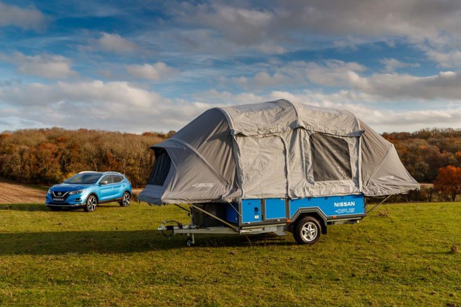 Campingvagn får batteri från Nissan Leaf