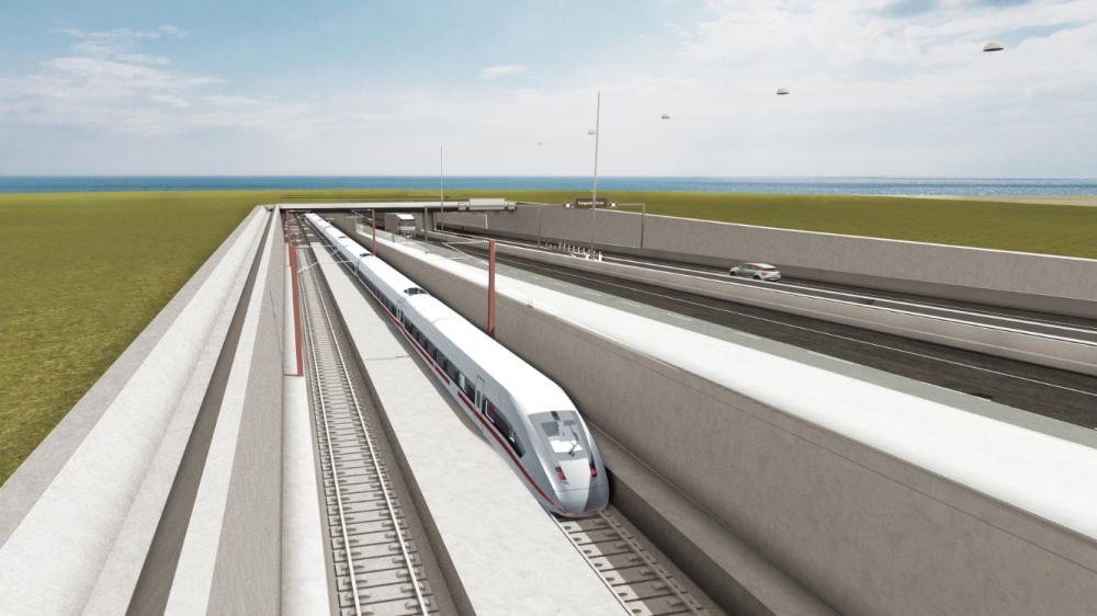 Nu startas bygget av tunneln Rödby till Puttgarden