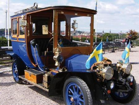 Den här fantastiska bilen har tidigare visats upp på Skansen i samband med nationaldagsfirandet.