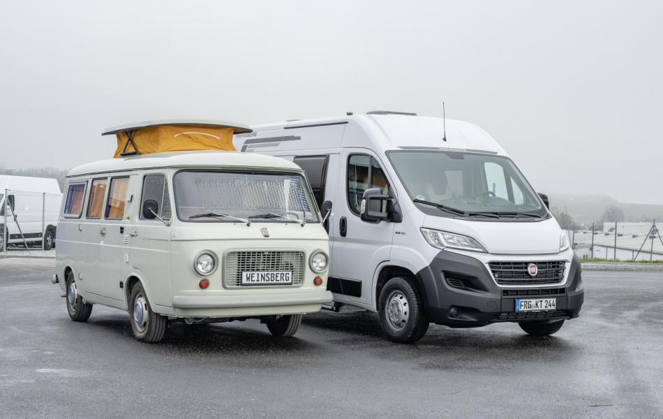 Weinsberg och Fiat 1969 och 2019