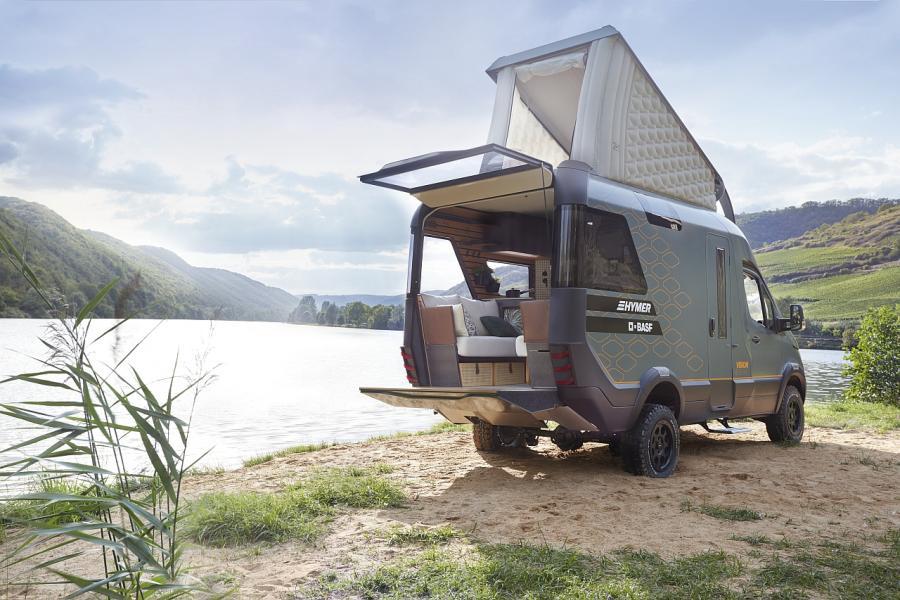 Hymer konceptbil med BASF för framtidens vanlife