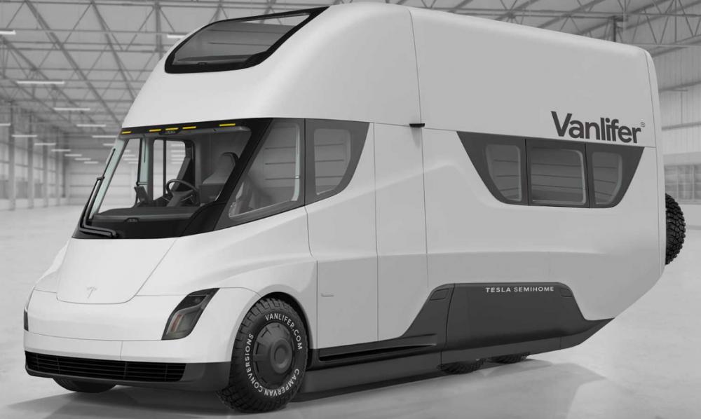 Tesla blir husbilen Vanlifer Semihome