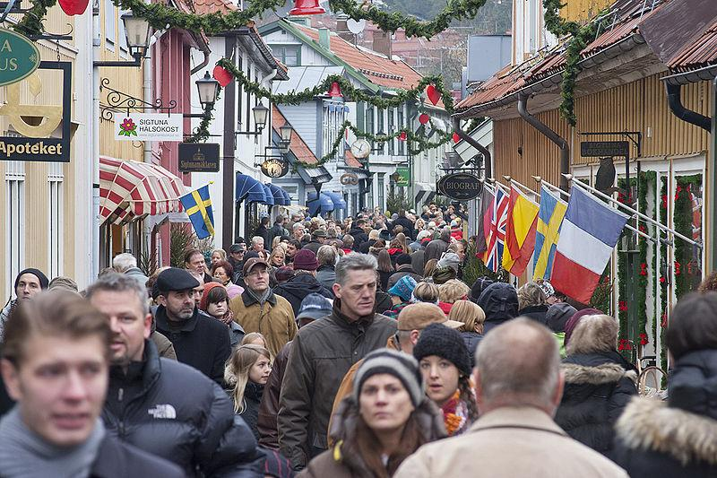 Julmarknad med historisk klang i Sigtuna