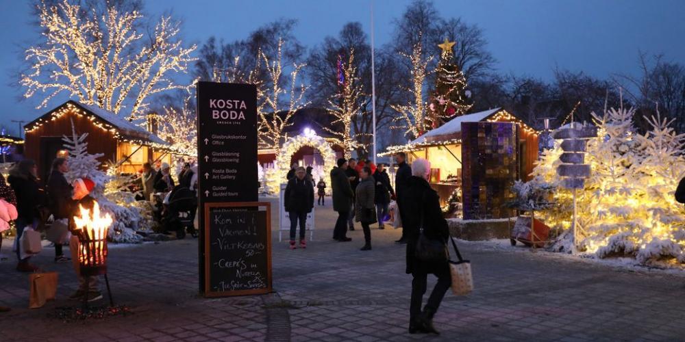 Julmarknad i Kosta med magisk känsla