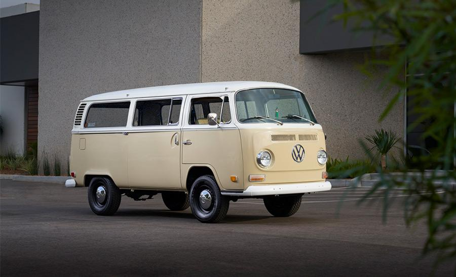VW konverterar klassisk folkabuss till eldrift