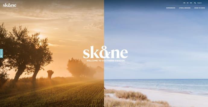 Hemsida för dig som ska besöka Skåne