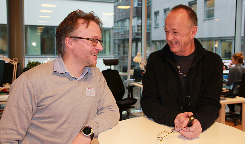 Mikael Blomqvist, Kabe, och Kurt Myhr, FFI.