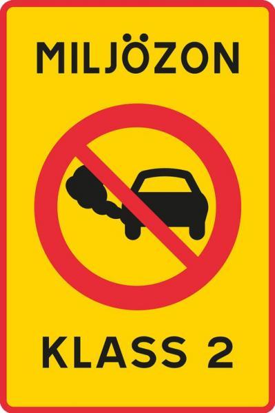 Nytt trafikmärke för miljözoner