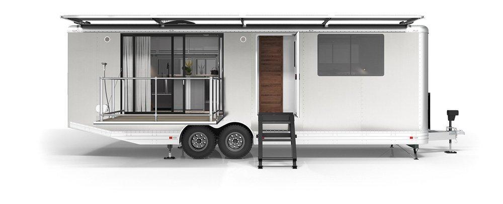 Aluminium, fyrkantig och självförsörjande, det här är Living Vehicle