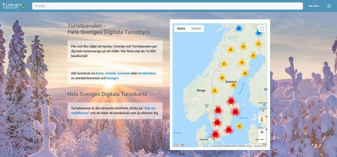 Digital tjänst för besöksmål i Sverige