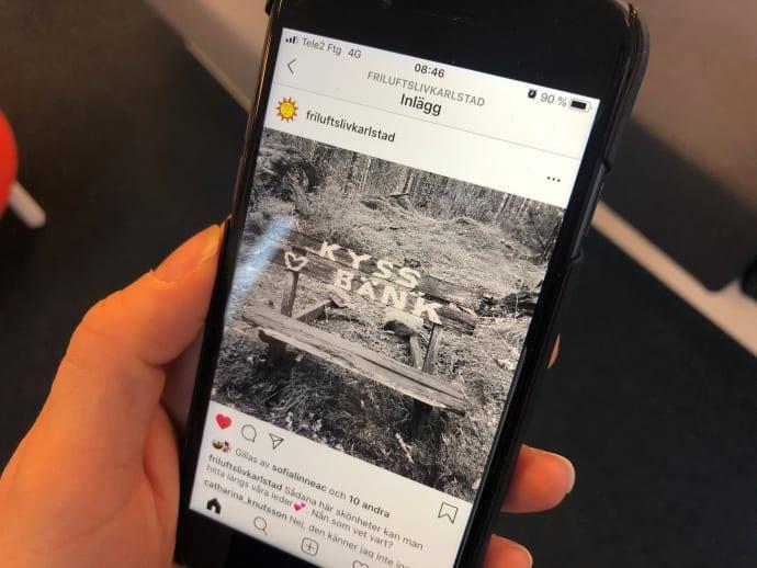 Nytt Instagramkonto ska locka ut fler i Karlstads natur