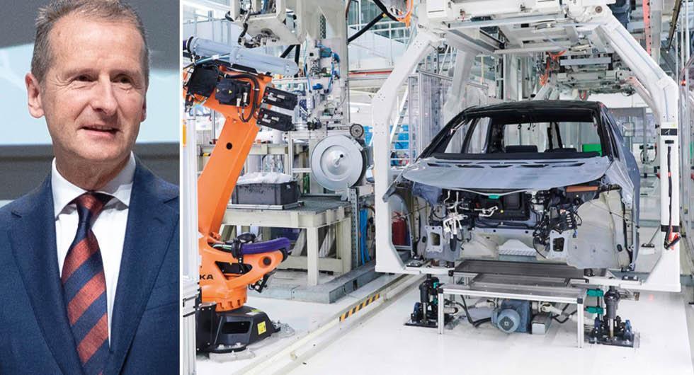 VW stoppar tillfälligt sin produktion