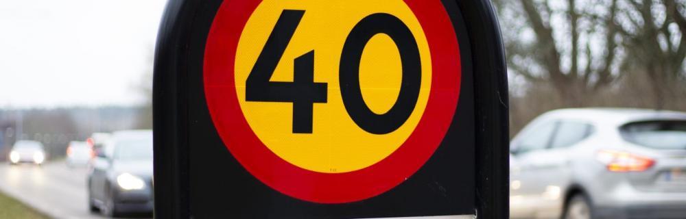 Svårt få bilister att hålla 40 i städer