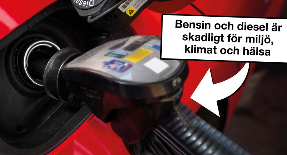 Nu ska bilister varnas för diesel och bensin
