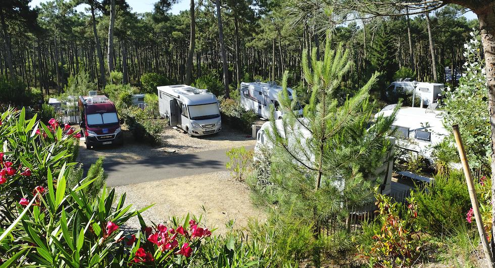 FRANKRIKE. Lyxig camping med magiska solnedgångar, vackra uppställningsplatser och drygt fyra mil till Bordeaux. Lägg till ännu en camping à la engelsk trädgård så får du en riktigt trevlig upplevelse.