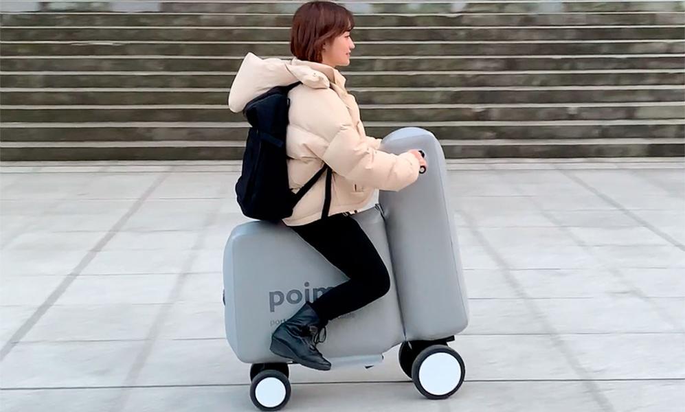 Uppblåst moped till kortutflykten