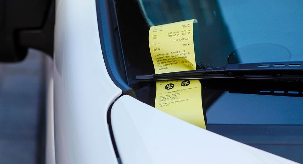 5000 i p-böter ska ge körförbud