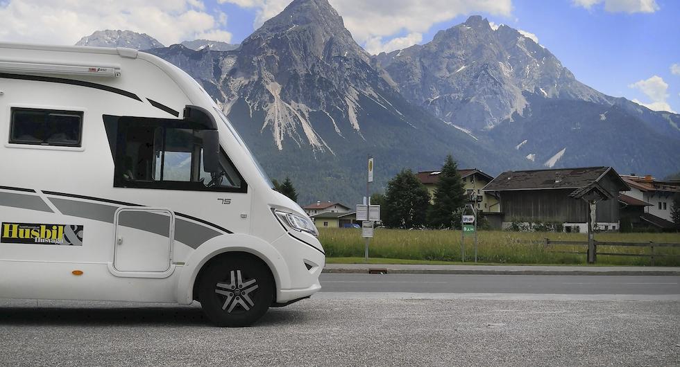Zugspitze är Tysklands högsta berg med sina 2962möh.