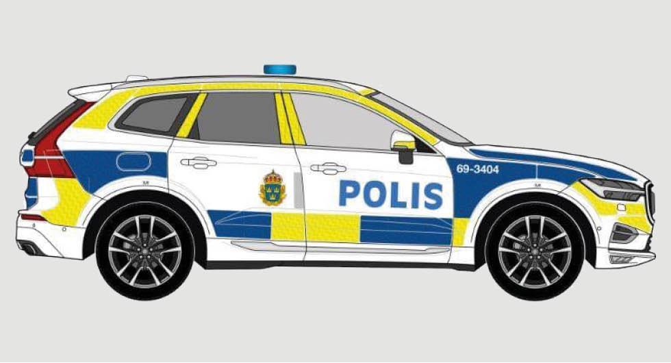 Se bilderna: Så ska polisens nya Volvo XC60 se ut
